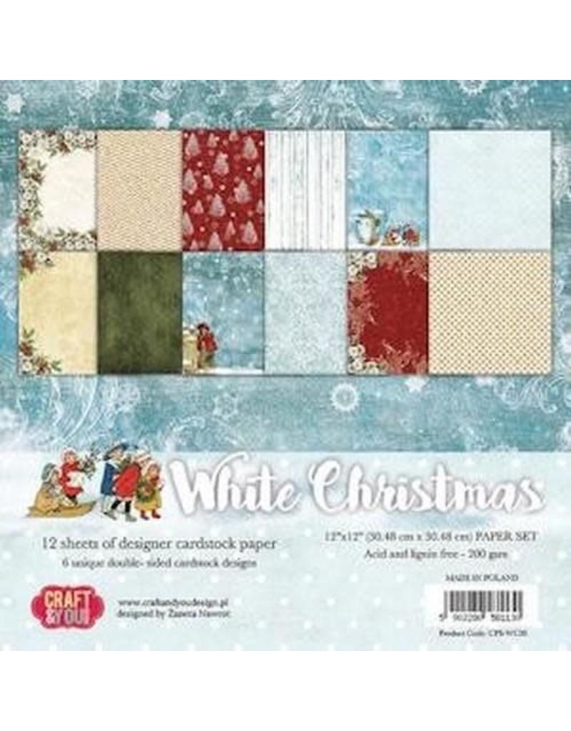 Craft & You Craft&You white Christmas BIG Paper Set 12x12 12 ve