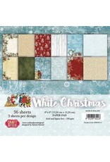 Craft&You white Christmas Small Paper Pad 6x6 36 vel CPB-WC15