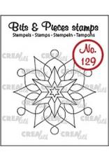 Crealies Clearstamp Bits & Pieces sneeuwvlok A CLBP129 42 x 43 mm