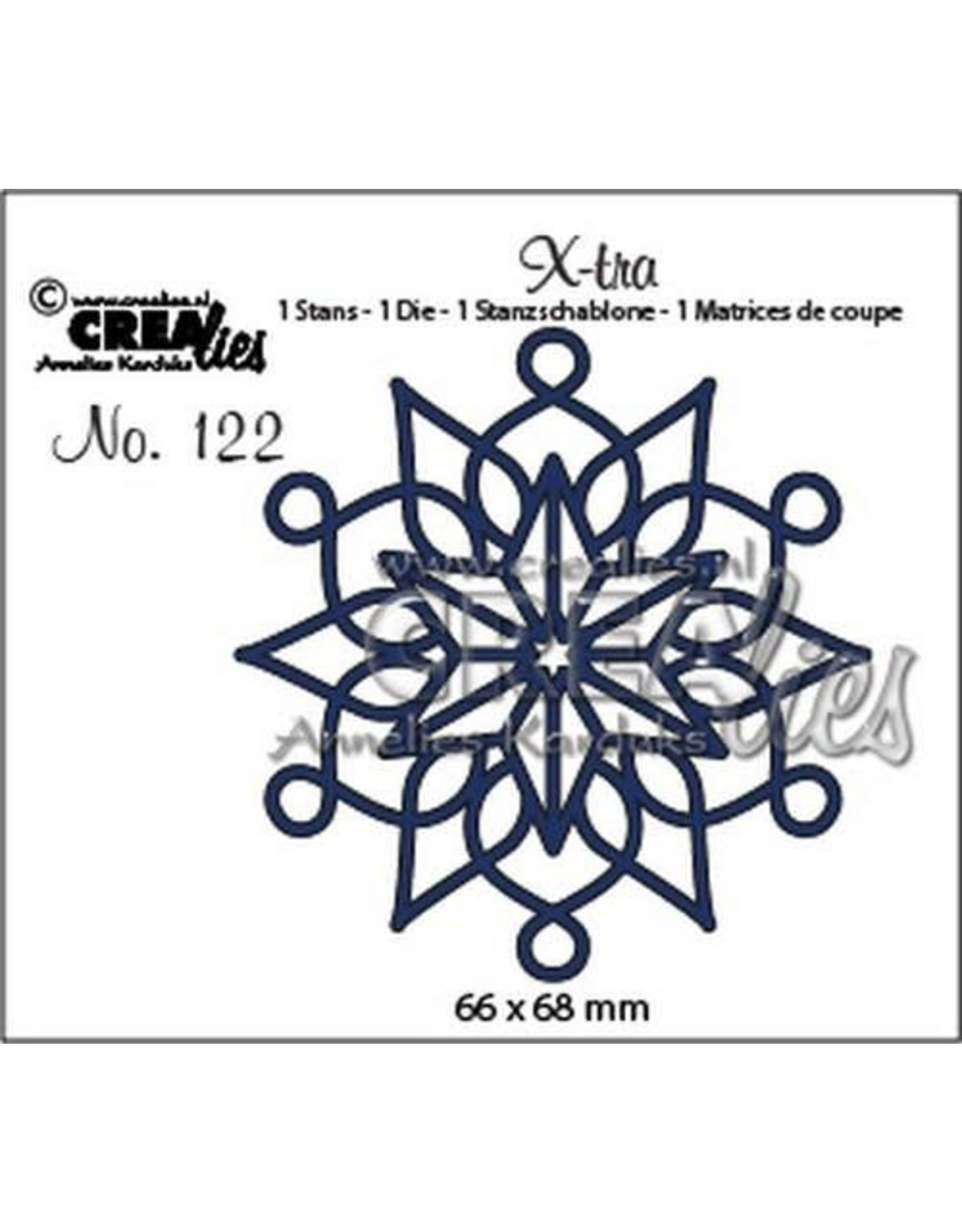 Crealies X-tra sneeuwvlok A CLXtra122 66 x 68 mm