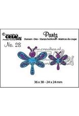 Crealies Partz no. 28 2x libelle CLPartz 28 / 36x38-24x24mm