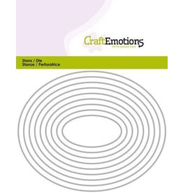 Craft Emotions CraftEmotions Die - randen ovaal Card 11x14cm