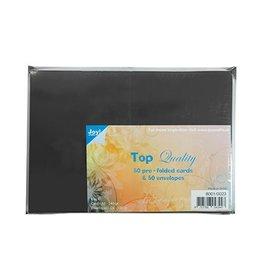 Joy Crafts Kaarten en Enveloppen Zwart 8001/0023