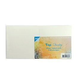 Joy Crafts Kaarten en Enveloppen Ivoor vierkant 8001/0032