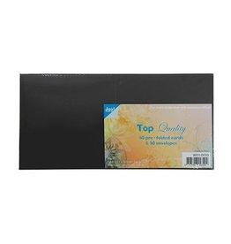 Joy Craft Joy Crafts Kaarten en Enveloppen Zwart vierkant 8001/0033