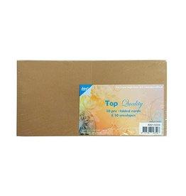 Joy Crafts Kaarten en Enveloppen Kraft vierkant 8001/0034