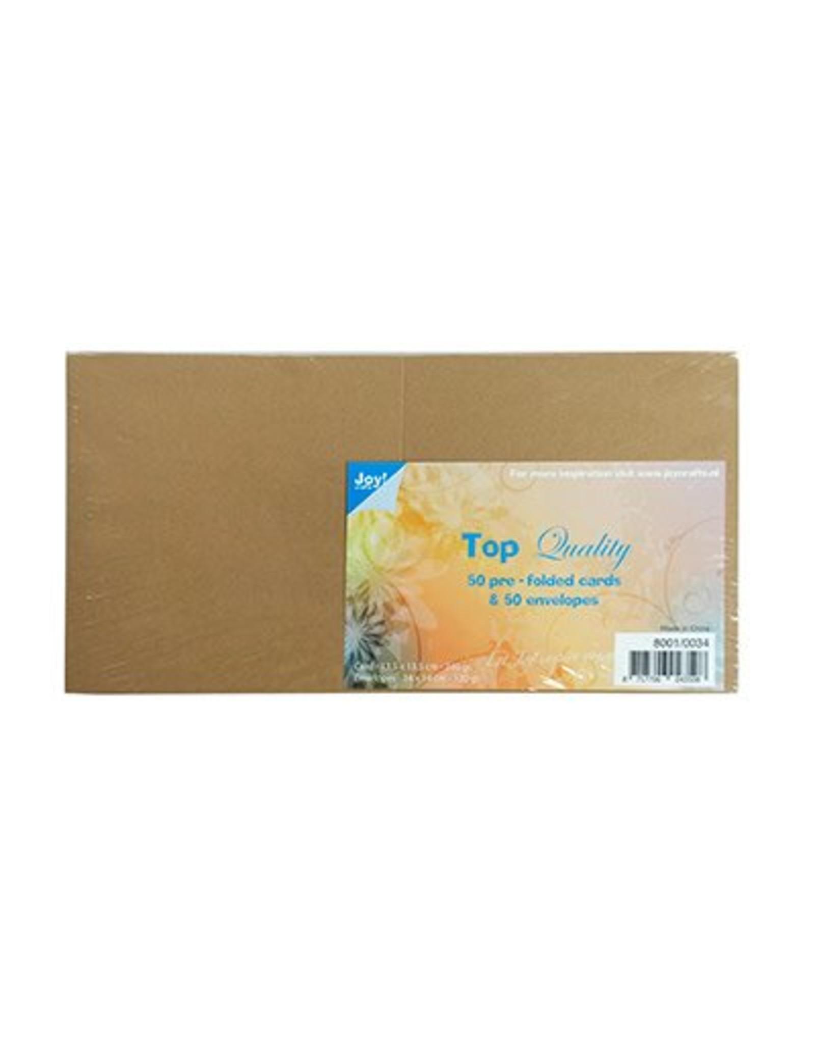 Joy Craft Joy Crafts Kaarten en Enveloppen Kraft vierkant 8001/0034