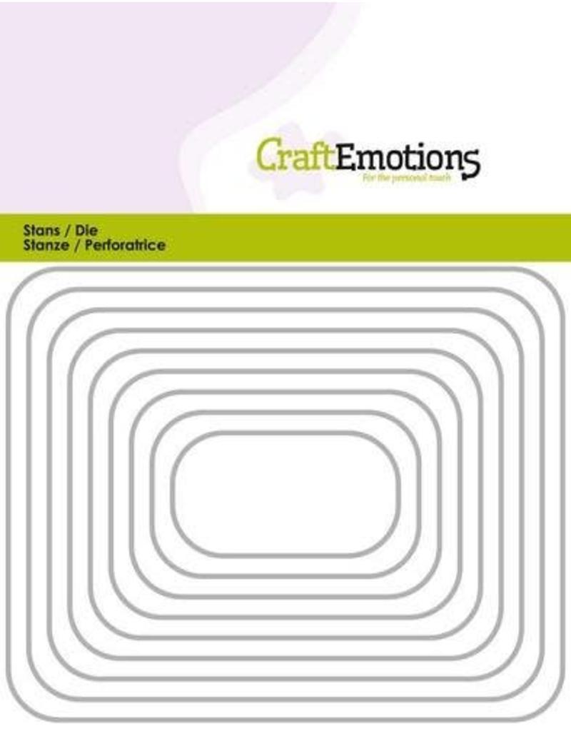 Craft Emotions CraftEmotions Die - randen rechthoek met ronde hoeken Card 11x14cm