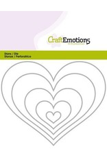 Craft Emotions CraftEmotions Die - randen hart Card 11x14cm