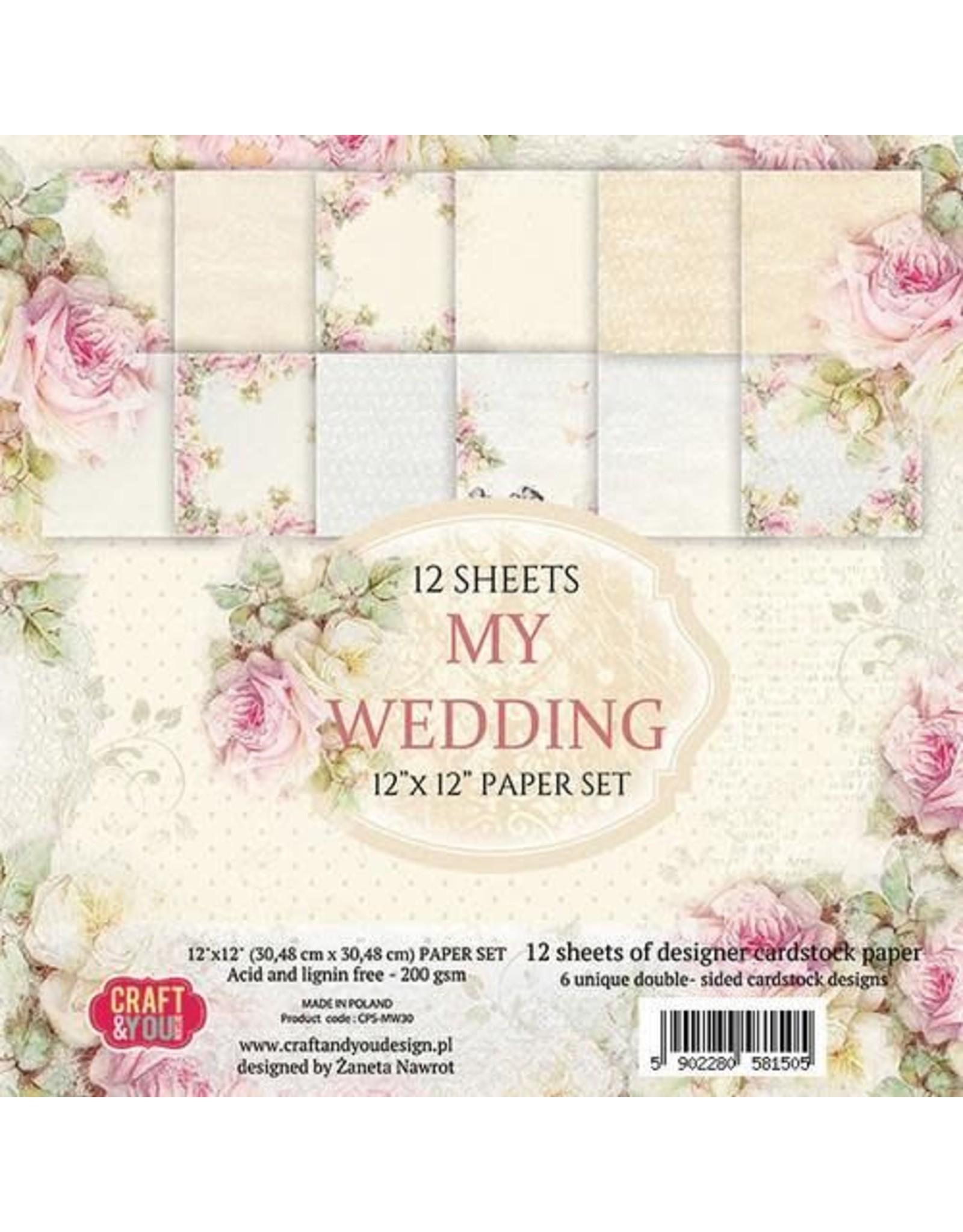 Craft & You Craft&You My Wedding Big Paper Set 12x12 12 vel CPS-MW30