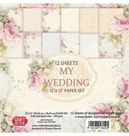 Craft & You Craft&You My Wedding Big Paper Set 12x12 12 vel CPS-MW30