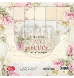 Craft&You My Wedding Small Paper Pad 6x6 36 vel CPB-MW15