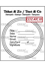 Crealies Clearstamp Tekst & Zo tekst voor ATC/AT Coin CLTZATC01 51 x 51 mm
