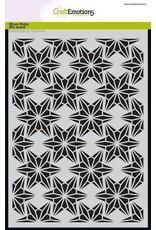 CraftEmotions Mask stencil - draadvorm sterren A5