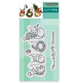 Penny Black slapstick,cling stamps Holly Jolly Critters 40-657