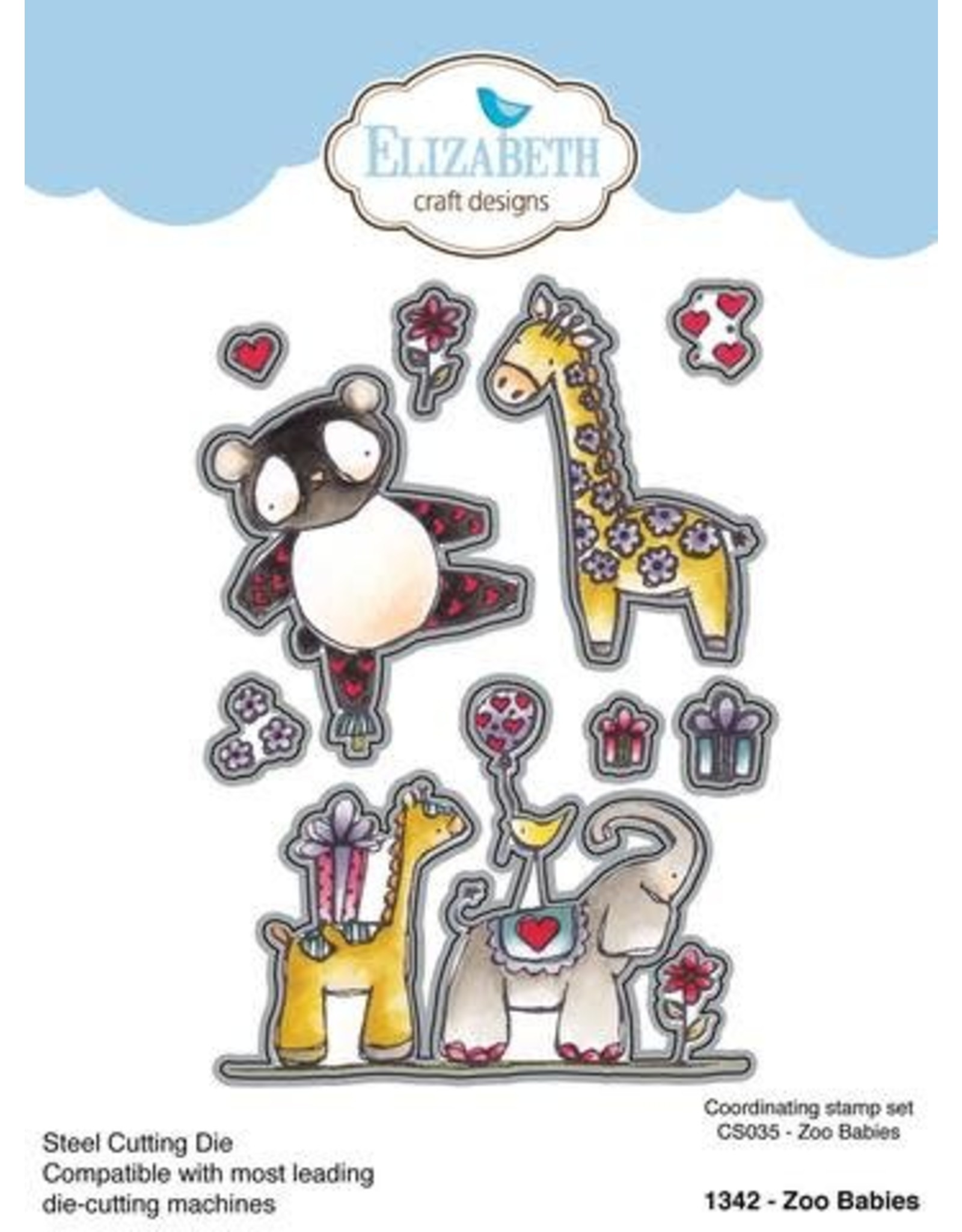 Elizabeth Craft Designs Elizabeth Craft Designs zoo babies die 1342