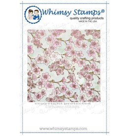 Wimsy Stamps Whimsy Stamps Cherry Blossom Background DDB0011