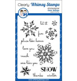 Whimsy Stamps Whimsy Stamps Snow Flurry Clear Stamps CWSD245