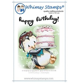 Whimsy Stamps Penguin's Cake C1321