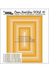 Crealies Crea-nest-dies XXL no. 10 stans rechthoek basis CLNestXXL10 / 5 cm - 16 cm