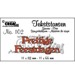 Crealies tekststans - Prettige Feestdagen (NL) CLTS102 11x38-11x55 mm