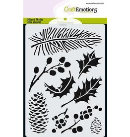 Craft Emotions CraftEmotions Mask stencil xmas florals A6 A6