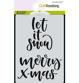 CraftEmotions Mask stencil handletter merry X-mas A6
