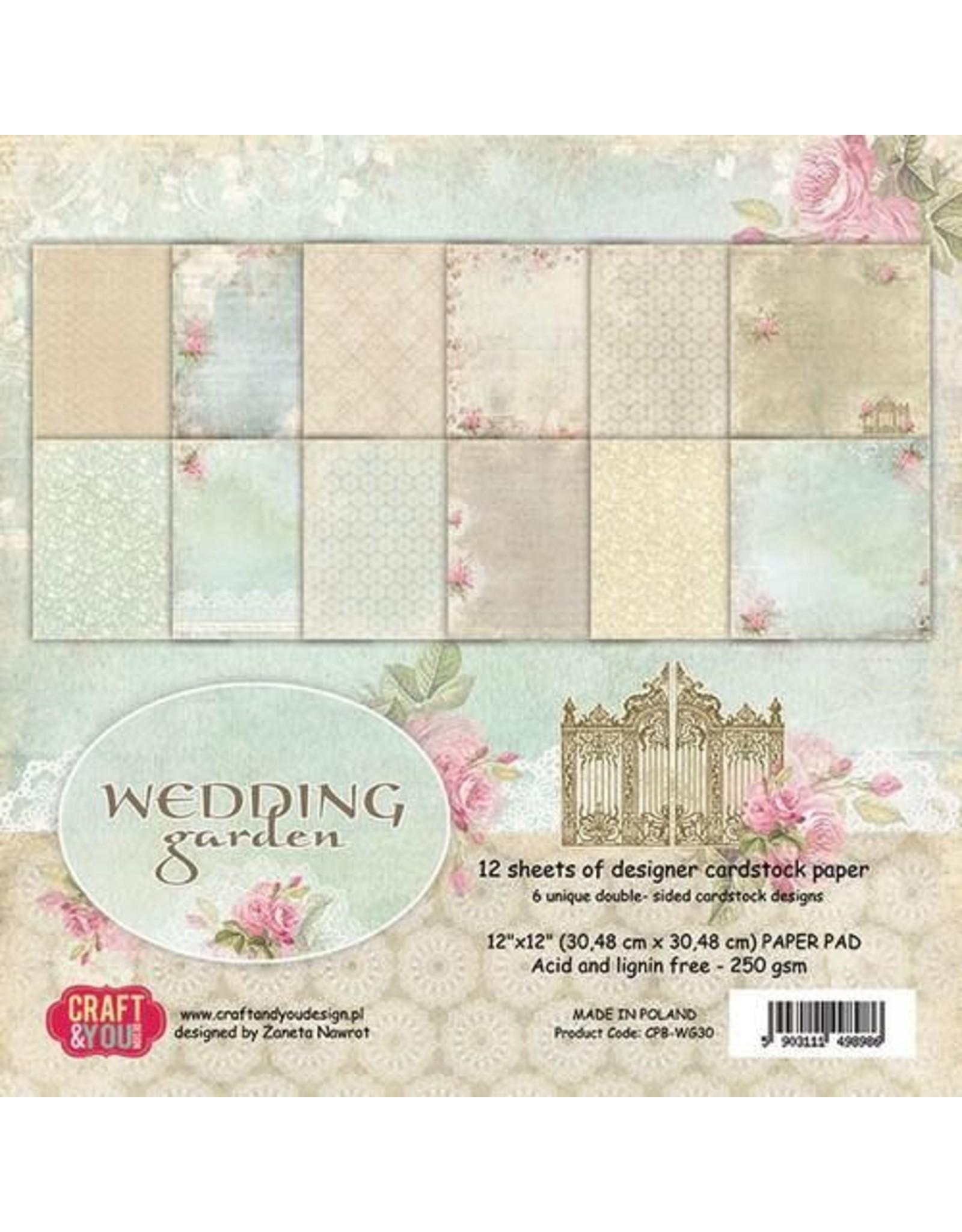 Craft&You Wedding Garden Big Paper Set 12x12 12 vel