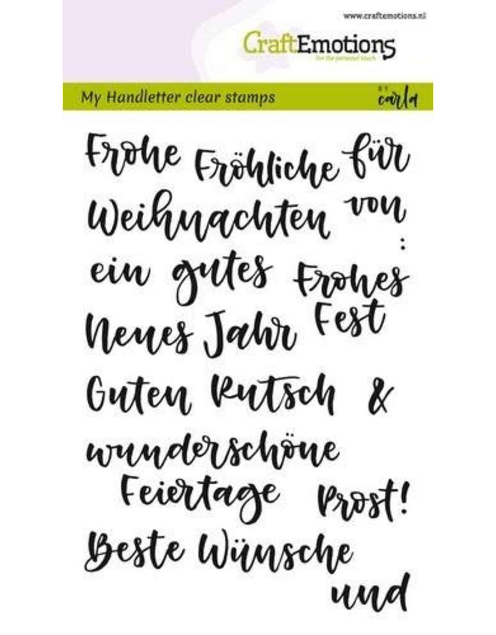 Craft Emotions CraftEmotions clearstamps A6 - handletter - Wörter Weihn. kl (DE)