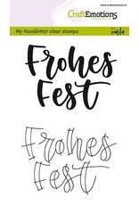 CraftEmotions clearstamps A6 - handletter - Frohes Fest (DE)