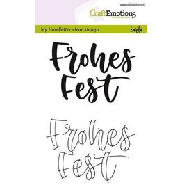 Craft Emotions CraftEmotions clearstamps A6 - handletter - Frohes Fest (DE)