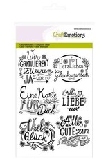 Craft Emotions CraftEmotions clearstamps A6 - wir gratulieren... handlettering (DE)