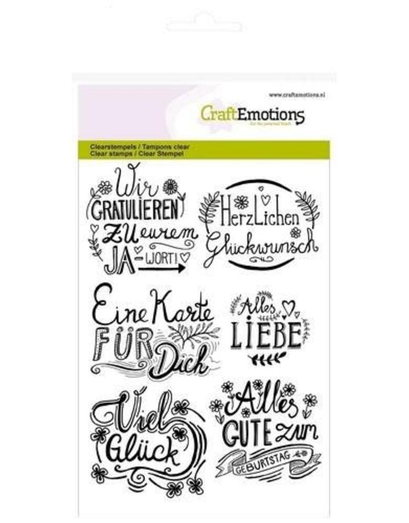 Craft Emotions CraftEmotions clearstamps A6 - wir gratulieren... handlettering (DE)