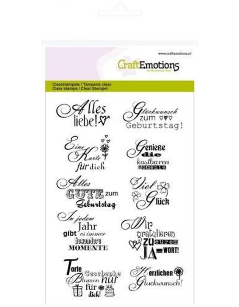 Craft Emotions CraftEmotions clearstamps A6 - tekst DE Glückwunsch