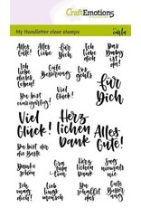 Craft Emotions CraftEmotions clearstamps A6 - handletter - Quotes Verschieden (DE)
