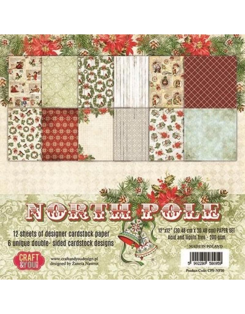 Craft&You North Pole BIG Paper Set 12x12 12 vel CPS-NP30