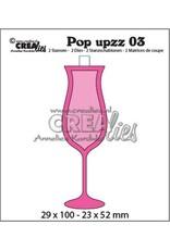 Crealies Crealies Pop upzz champagneglas CLPU03 29x100 - 23x52mm