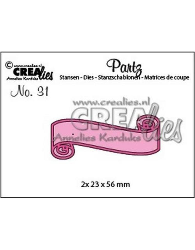 Crealies Partz no. 31 banner A CLPartz31 2x 23x56mm