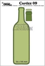 Crealies Cardzz no 09 wijnfles CLCZ09 56x195mm