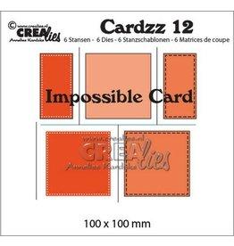 Crealies Cardzz no 12 impossible card CLCZ12 100x100mm
