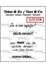 Crealies Clearstamp Tekst & Zo Wijn B (NL) CLTZD18 max. 32mm
