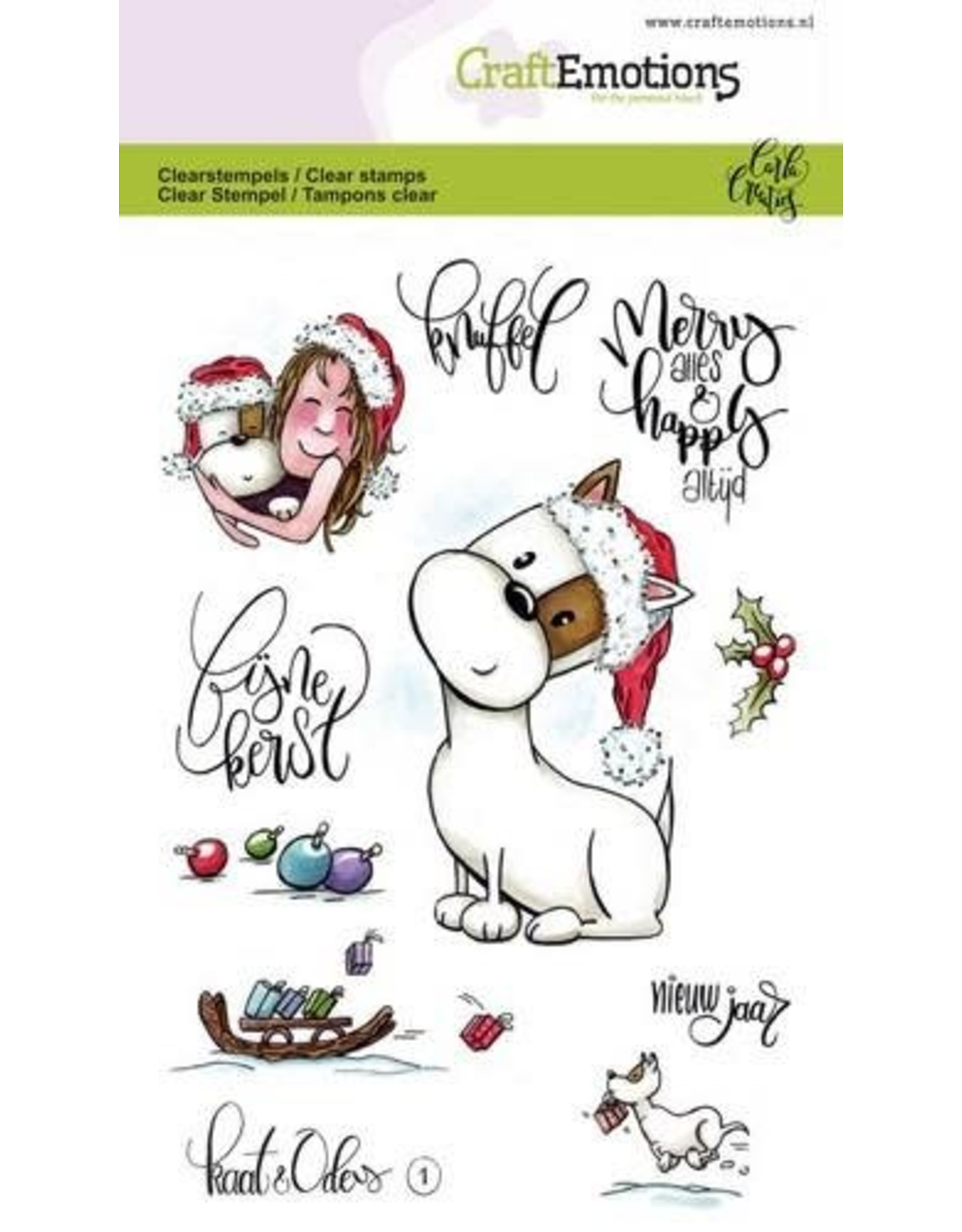 CraftEmotions clearstamps A6 - Kaat en Odey 1 (NL)