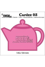 Crealies Cardzz nr 03 Theepot CLCZ03 / 145x 104 mm