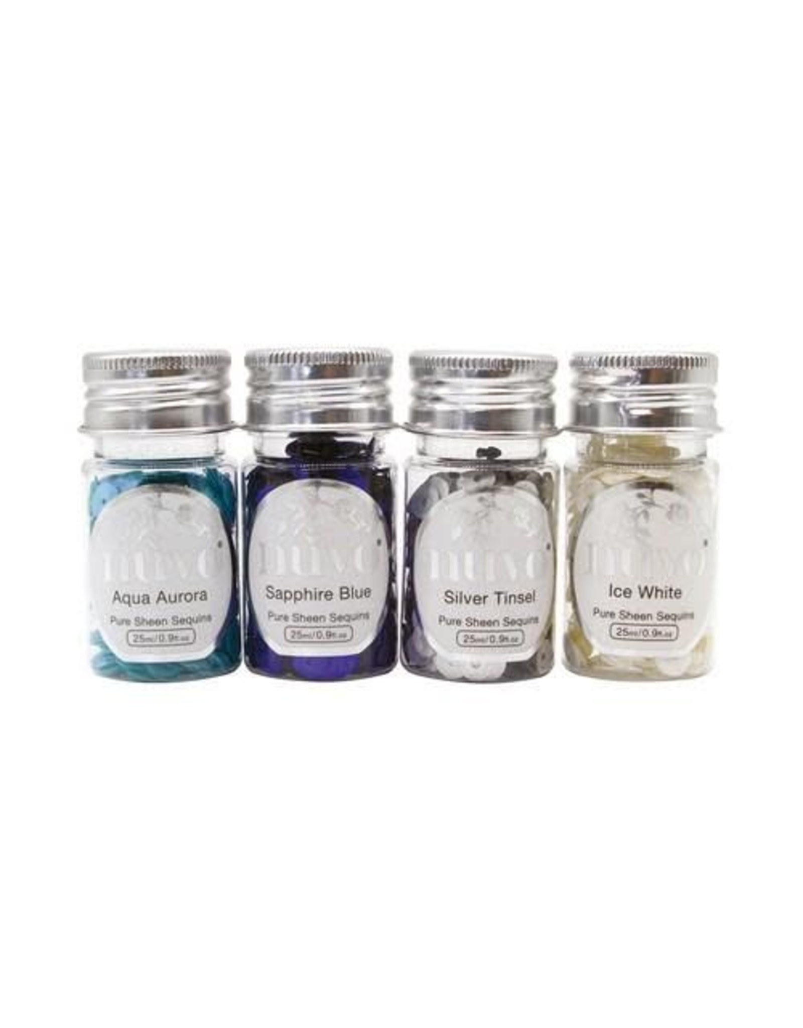 Nuvo pure sheen Nuvo Pure Sheen Sequins - Let it Snow 4 pk 282N