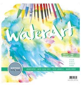 Waterart Aquarelblok,  8 sheets 30.5x30.5cm/300grs