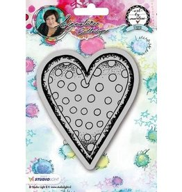 Studio Light Mix Med. Studio Light Cling Stamp Hearts Art By Marlene 2.0 nr.22 STAMPBM22