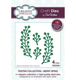 Creative Expressions Creative Expressions Dies Festive Collection Berry Sprig CED3053
