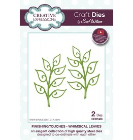Creative Expressions Creative Expressions Finishing Touches Collection - Whimsical Leaves 1483