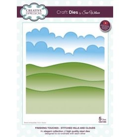Creative expressions Finishing Touches - Stitched Hills & Clouds 1495
