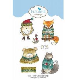 Elizabeth Crafts Design Winter Animals stamp set CS106